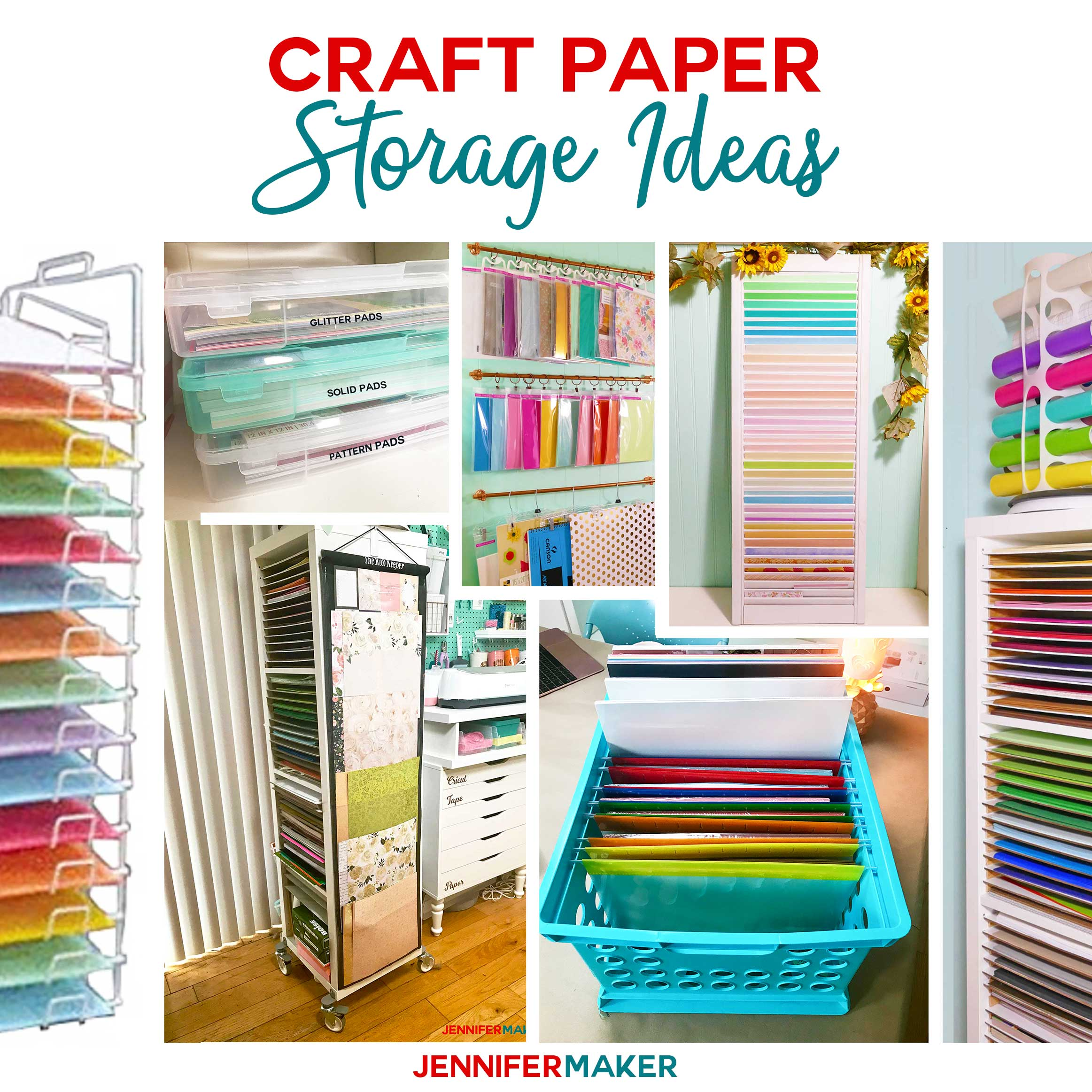 Craft Paper Storage Ideas: The Best Organization Solutions! - Jennifer Maker