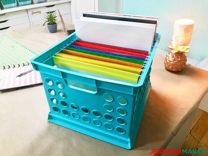 Craft Paper Storage Idea - File Your Paper!