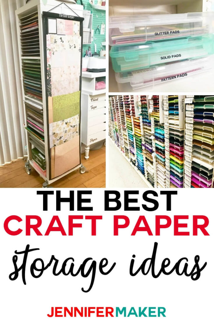 Do you have scrapbook paper and need a functional storage solution for it? I have compiled a list of craft paper storage ideas that will keep your paper organized and accessible. #papercrafts #papercrafting #cricutprojects #craftprojects #craftroom