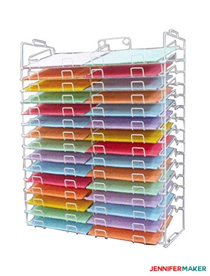 Craft Paper Storage Idea - Wire Racks
