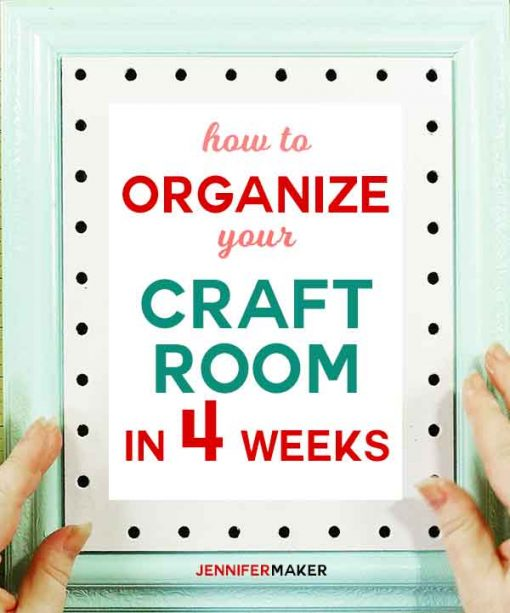 How you CAN organize your entire craft room in 4 weeks with tips, tricks, ideas, and tutorials | declutter your craft space | organize craft tools and supplies | #organization
