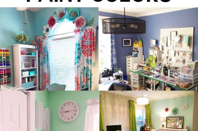 Craft Room Paint Color Ideas #colors #craftroom #paint