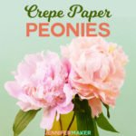 Make crepe paper peony flowers that look realistic! Great home decor, party decorations, and gift toppers. Complete step-by-step tutorial and free pattern/SVG file included. #paperflowers #peony #cricut #silhouette #crepeflowers #svgcutfile