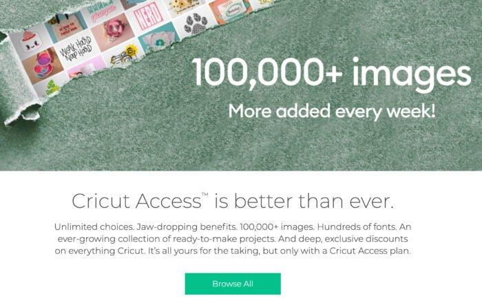 Cricut Access subscription plan offers 100,000+ images