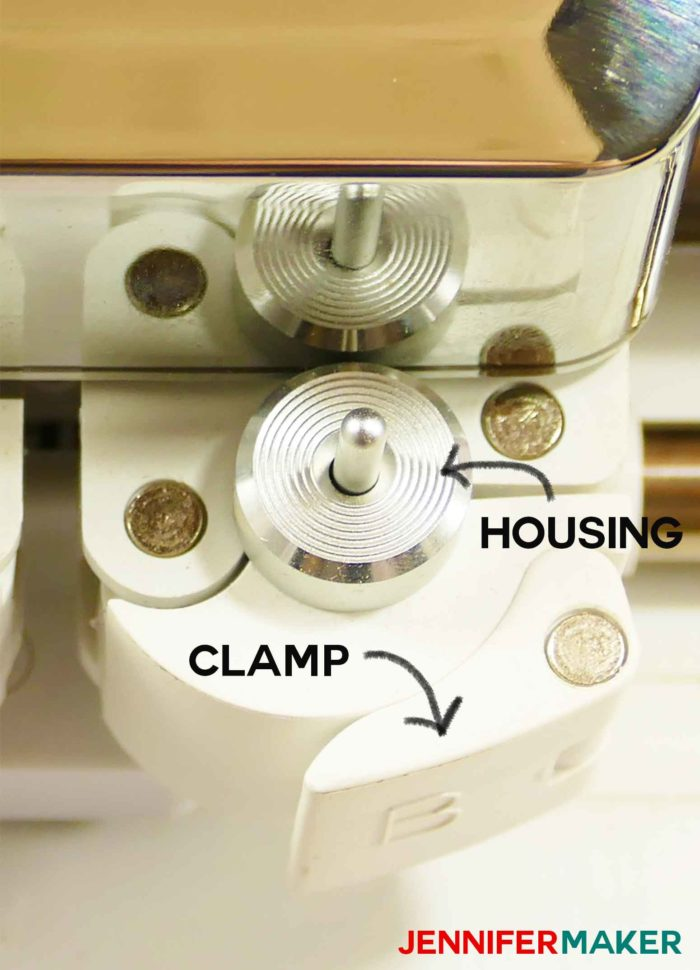 Cricut machine housing and clamp