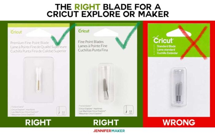 Know the right and wrong Cricut blades for your Explore and Maker