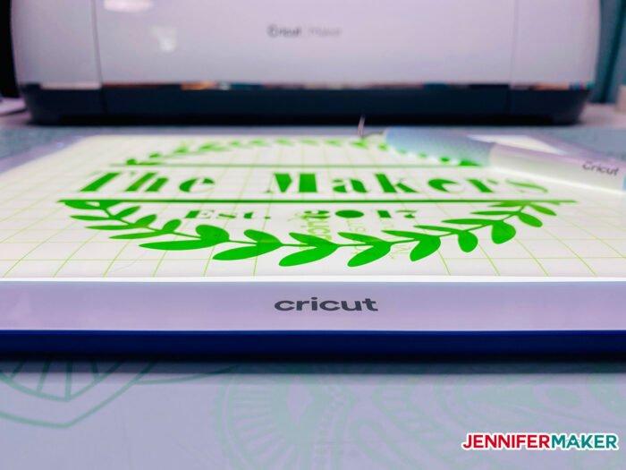 Super slim Cricut BrightPad Go in white and indigo
