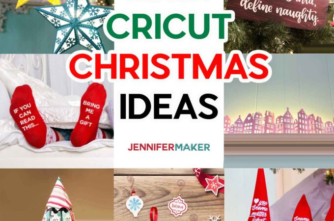 Cricut Christmas Ideas with free SVG cut files, tutorials, and homemade gift ideas