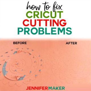 Cricut Cutting Problem Tips & Solutions #cricutmade #cricut #cricutexplore #diy