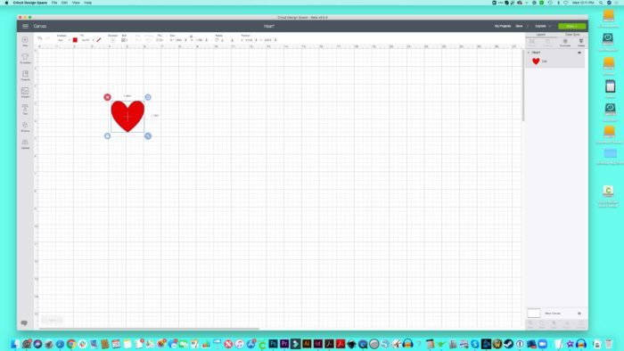 Cricut Design Space for Desktop on my Mac