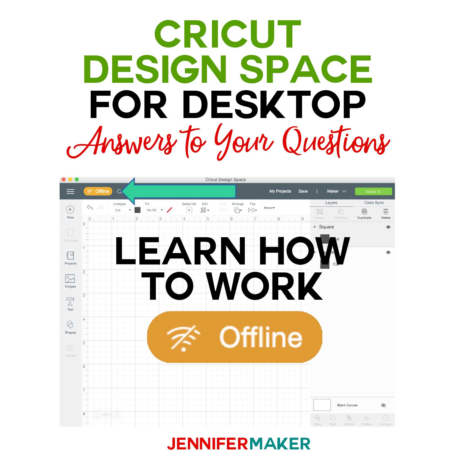 Cricut Design Space for Desktop: How to Work Offline #cricut #designspace