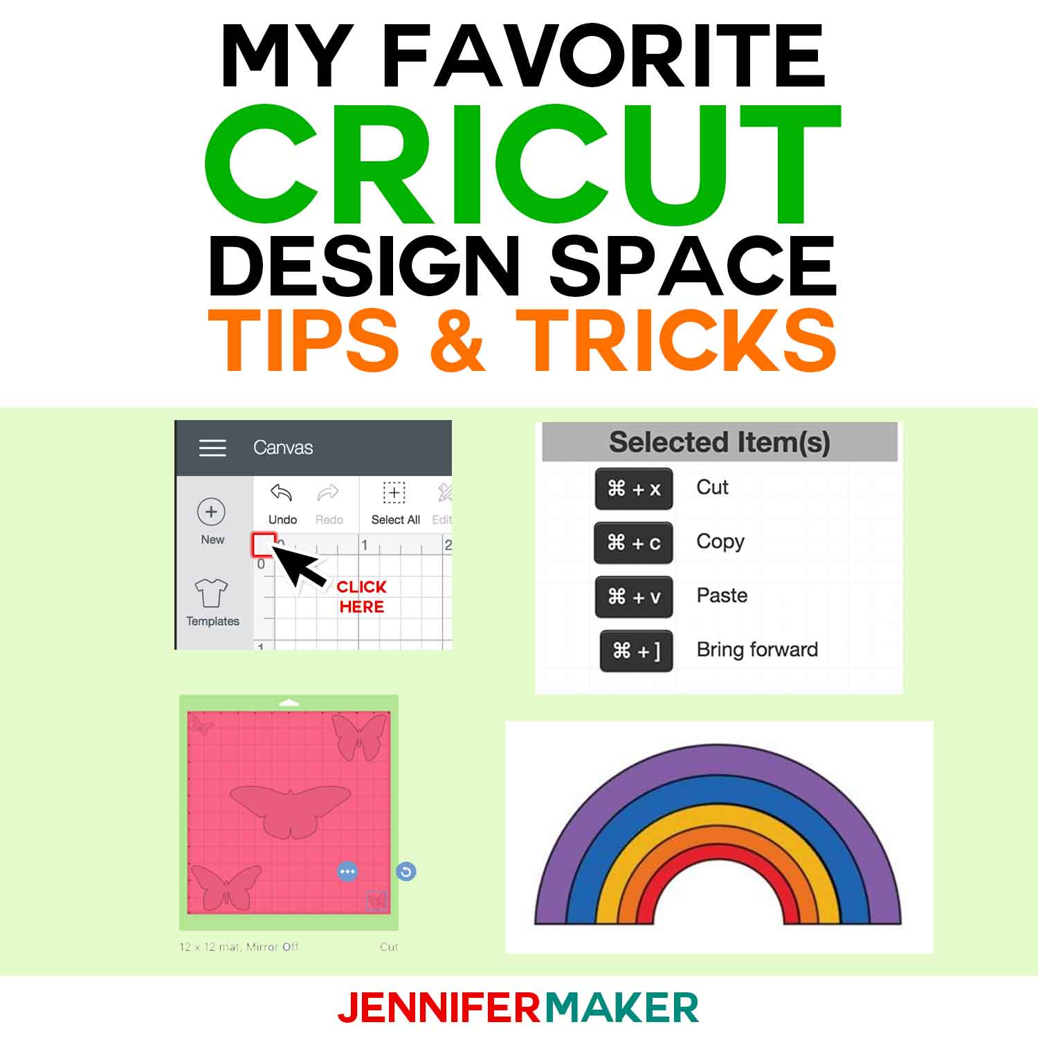 Cricut Design Space Tutorials, Tips & Tricks - Jennifer Maker