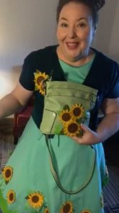 Showing off my Cricut Dress and Purse