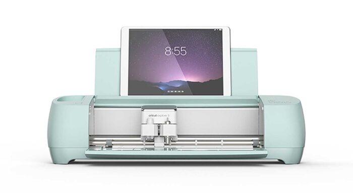iPad in a Cricut Explore 3 cutting machine