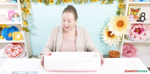 Showing off the Pink Poppy Cricut Explore Air in the Cricut Mini-Course