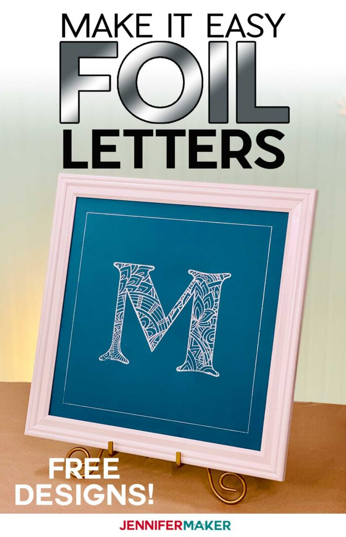 Easy Foil Letters - Mandala Style - Made with Cricut Foil Transfer - Free SVG Files, All Letters #cricut #cricutfoiltransfer