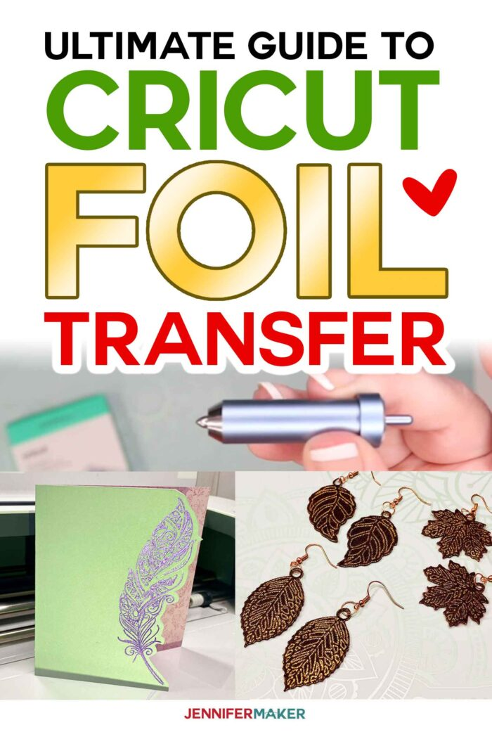 Cricut Foil Transfer Tool & Transfer Sheet Guide to Foiling Cards, Earrings, and Decorations #cricut #cricutfoiltransfer #tutorial