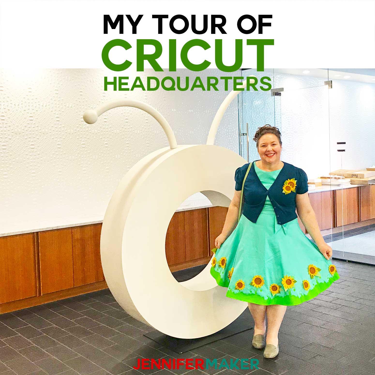 Cricut Headquarters Tour with JenniferMaker