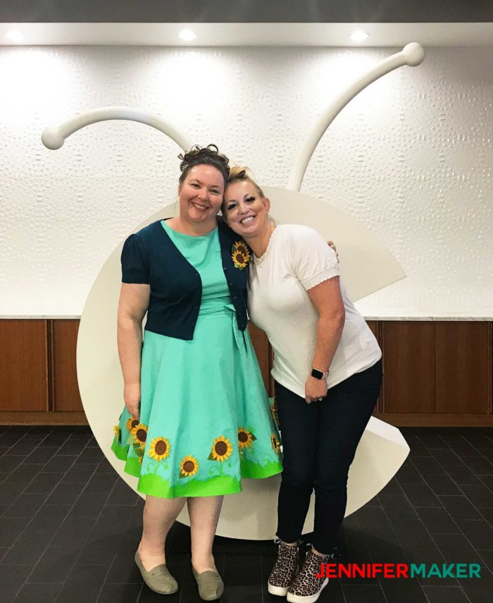 Jennifer Maker and Brittany Jacobson at Cricut Headquarters