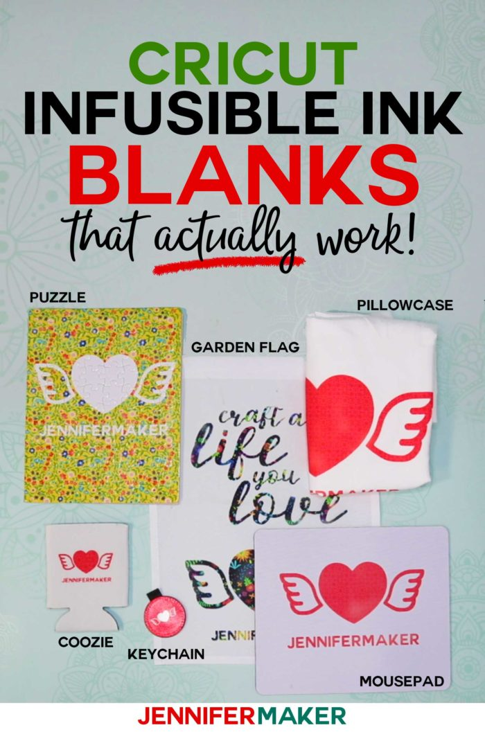 Cricut Infusible Ink Blanks & Materials that actually work! - List of What You Can Put Infusible Inks On #cricut #infusibleink #easypress
