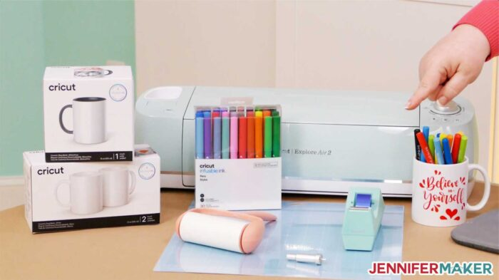 Cricut Infusible Ink supplies for DIY personalized mugs