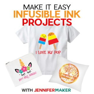 Cricut Infusible Ink Projects: Pillow Shams, Wine Bags, Cosmetic Bags, and Toddler Tees