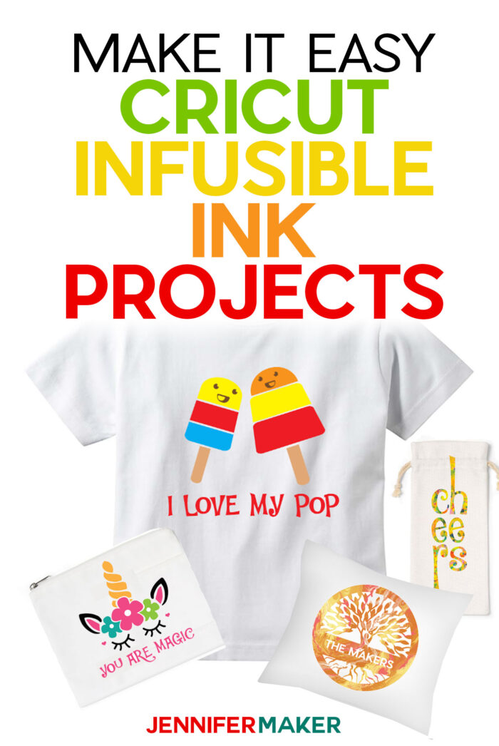 Cricut Infusible Ink Projects: Pillow Shams, Wine Bags, Cosmetic Bags, and Toddler Tees #cricut #infusibleink #easypress