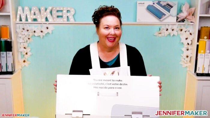 Cricut Maker 3 box with Jennifer Maker