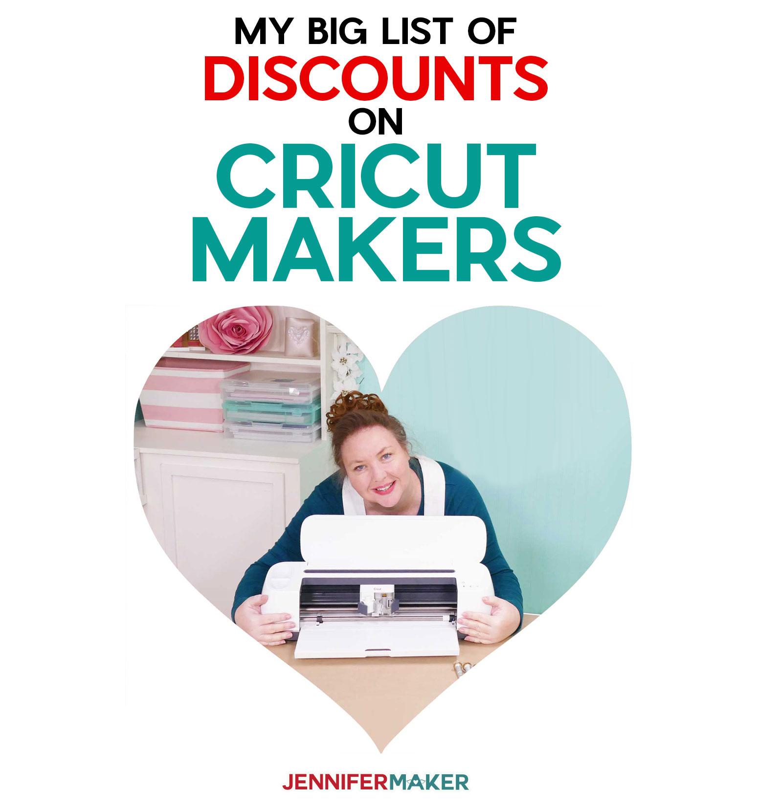 Discounts on Cricut Maker deals -- the big list!