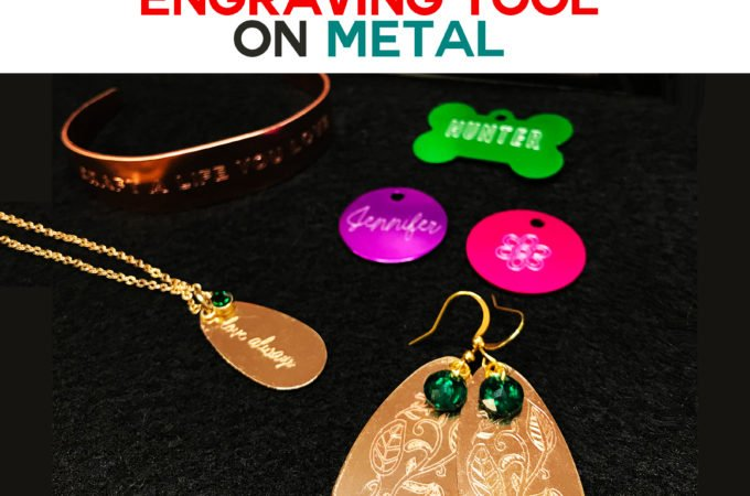 Cricut Maker Engraving Tool on Metal - How to Engrave and Personalize Dog Tags, Charms, Bracelets, and Earrings #engraving #cricut #cricutmaker