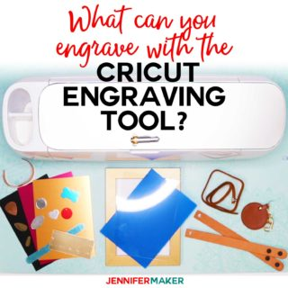 Cricut Maker Engraving Tool Materials: What Can You Engrave with Your Cricut? #cricut #engraving #cricutmaker