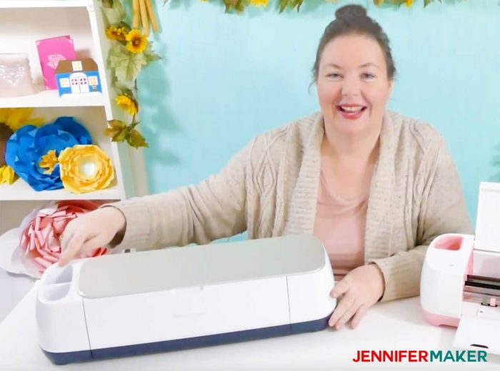 Jennifer Maker's Cricut Maker in her craft room