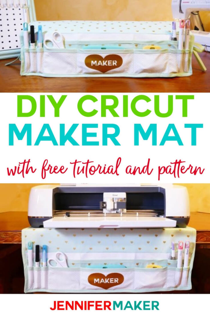This DIY Cricut Maker mat and dust cover is both functional and pretty. #cricut #cricutmade #cricutproject #diy #tutorial #craftroom