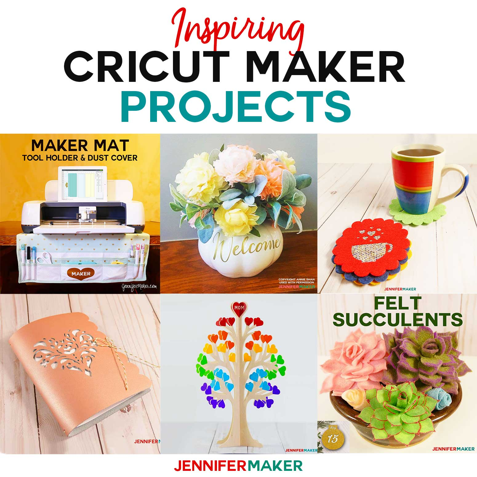 These Cricut Maker Projects will inspire you to make amazing things with and gifts your cutting machine! #cricutmaker #svgcutfiles #felt #cricutprojects