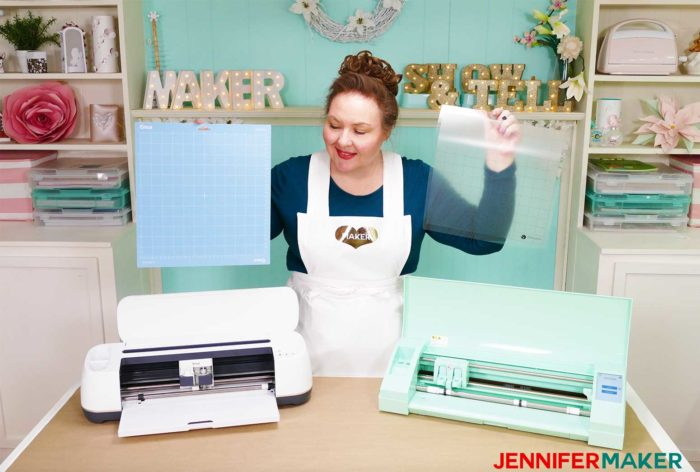 Comparing cutting mats for the Cricut Maker vs SIlhouette Cameo 3