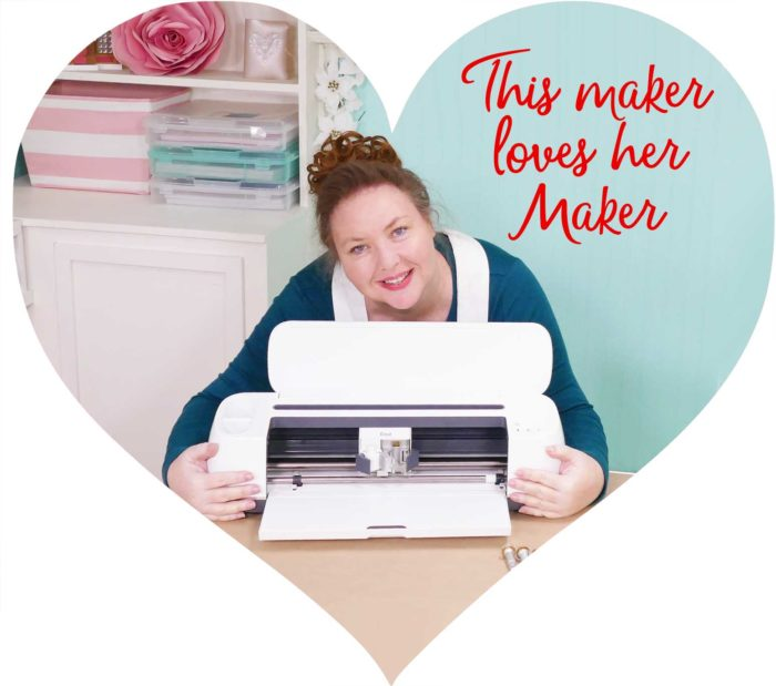 Jennifer Maker and her Cricut Maker