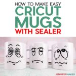 Cricut Mugs with vinyl and sealer to make a dishwasher safe vinyl mug #cricut #vinyl #modpodge