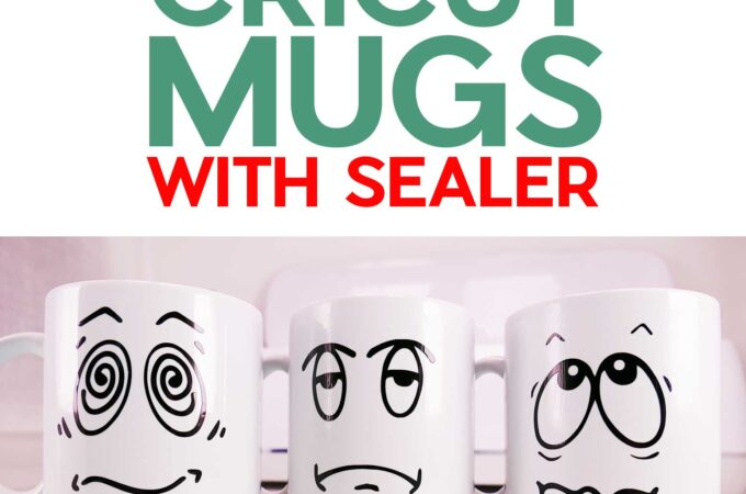 Cricut Mugs with vinyl and sealer to make a dishwasher safe vinyl mug #cricut #vinyl #modpodge
