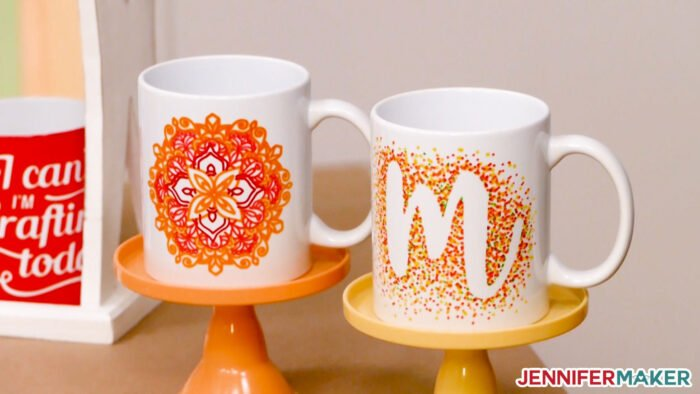 Infusible Ink Pen and Marker mugs made with the Cricut Mug Press