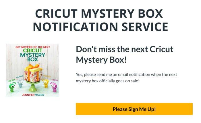 Cricut Mystery Box Notification Service
