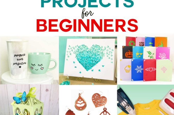 Cricut Projects for Beginners with ideas and tutorials for Cricut Maker and Cricut Explore Air 2 - Free Files & Craft Projects! #cricut #svgcutfiles