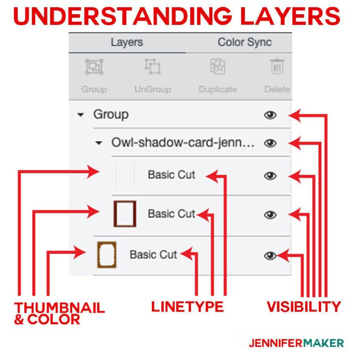 Understanding the Layers Panel for Cricut Scoring