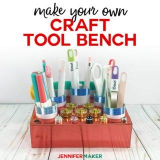 Cricut Tool Holder& Organizer: The Tool Bench #cricutmade #organize #craftroom #cricutmaker