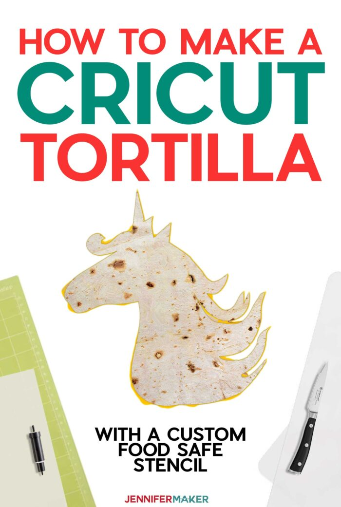 Make a Cricut Tortilla with a Food-Safe Reusable Stencil Cut on a Cricut #cricut #tiktok #quesadilla