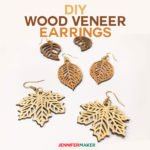 Cricut Wood Veneer Earrings with free patterns | Cut on a Cricut Explore or Maker | #cricutmade #woodveneer #earrings #cricutexplore #svgcutfile