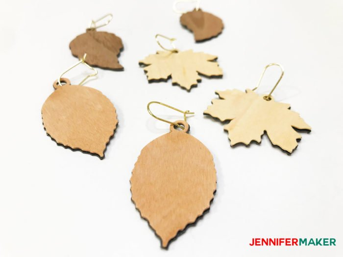 Simple Cricut Wood Veneer Earrings