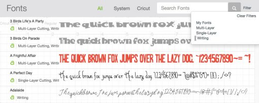Choosing a writing font for your text in Design Space for Cricut Writing