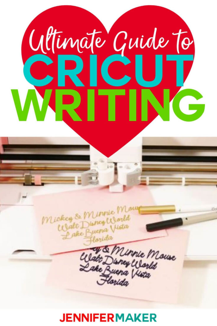 Cricut writing has never been easier than with the Cricut Explore & Cricut Maker! This guide will have you addressing envelopes and using your Cricut pens like a pro in no time! #Cricut #cricutmade #cricutmaker #cricutexplore #cricutpens #tutorial