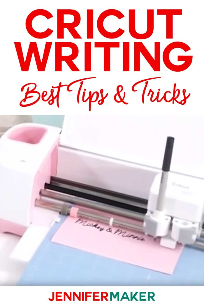 Cricut Writing Best Tips & Tricks with a pink Cricut and a black pen