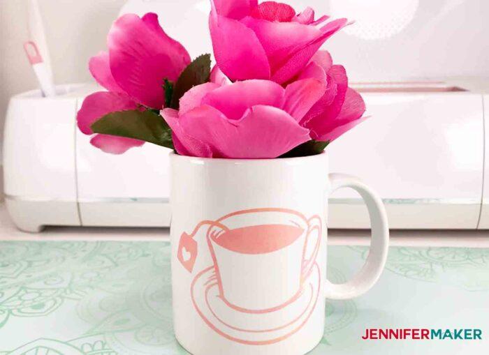 You're My Cup of Tea mug made with Infusible Ink on the Cricut Mug Press